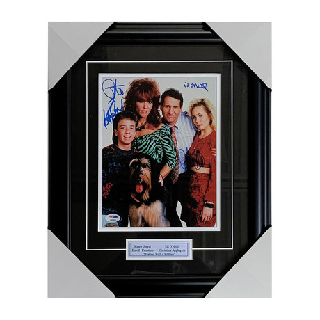 Married With Children // Cast-Signed Photo Display