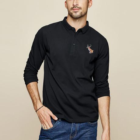 River Polo Shirt // Black (Medium)