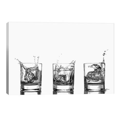 "Triple Whisky Splash // Paul Stowe (26""W x 18""H x 1.5""D)"
