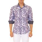 Coolidge Long Sleeve Button Up Shirt // White + Purple (XL)