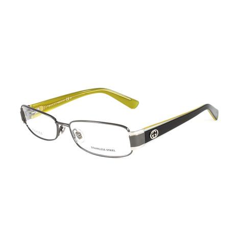 Women's GG2869 Optical Frames // Dark Ruthenium + Yellow