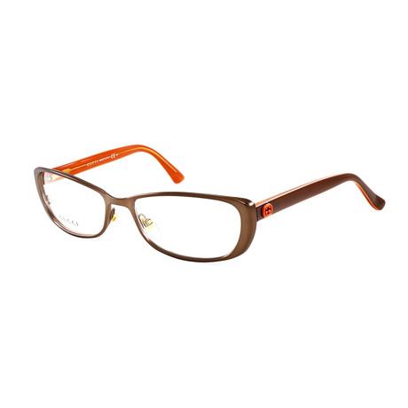 Women's GG2883 Optical Frames // Brown + Coral
