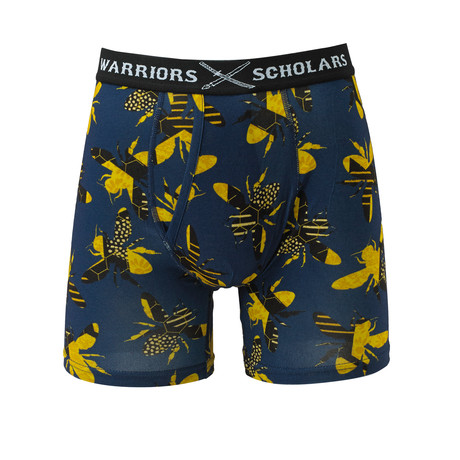 Busy Bee Cotton Softer Than Cotton Boxer Brief // Blue + Yellow (S)