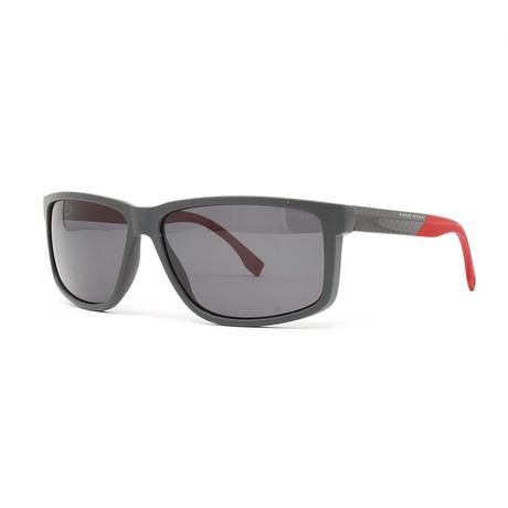 Men's 833S Polarized Sunglasses // Dark Gray + Carbon Red