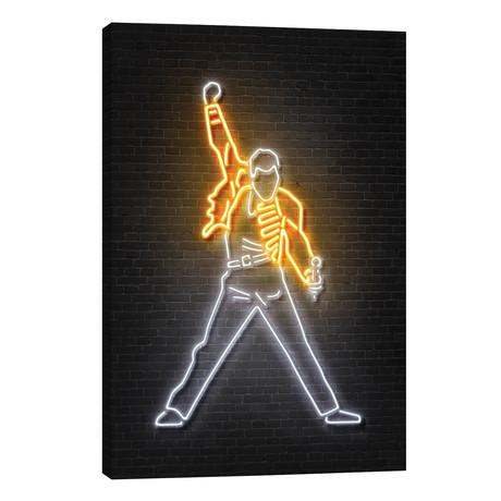 "Freddie Mercury // Octavian Mielu (40""W x 26""H x 1.5""D)"