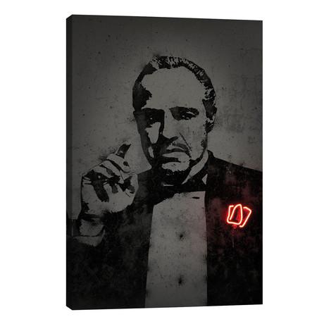 "Godfather // Octavian Mielu (40""W x 26""H x 1.5""D)"