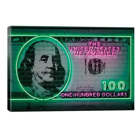 """100 Dollars // Octavian Mielu (26""""W x 40""""H x 1.5""""D)"""