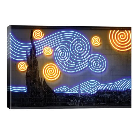 """Starry Night // Octavian Mielu (26""""W x 40""""H x 1.5""""D)"""