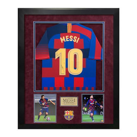 Lionel Messi // Jersey // Framed // Signed
