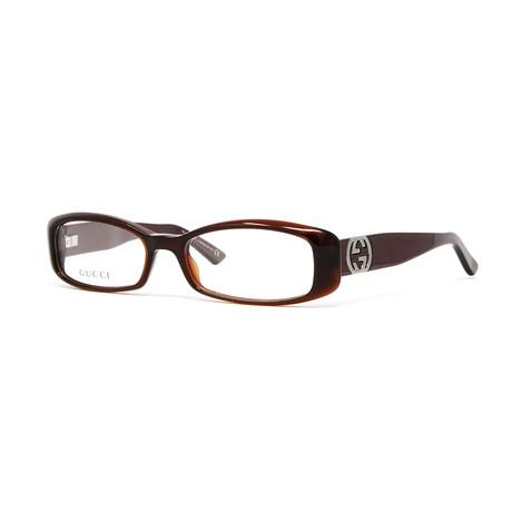 Women's GG2973 Optical Frames // Dark Olive + Chocolate