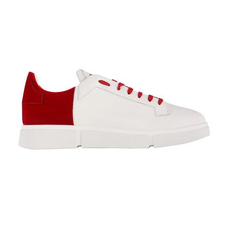 Kurt Sneaker // White + Cherry Velvet (Euro: 39)