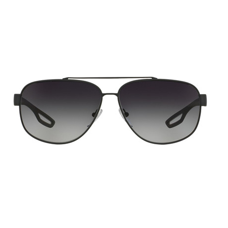 Men's Linea Rossa PS58QS-TFZ5W163 Fashion Sunglasses // Gray Rubber
