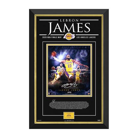 LeBron James // LA Lakers // Framed Collage Limited Edition /123 // Facsimile Signature