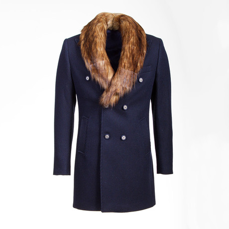 Seattle Wool Coat // Dark Blue (Euro: 46)