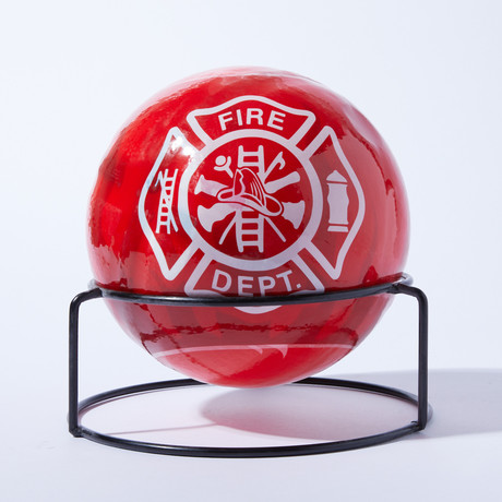 Automatic Fire Extinguisher Ball + Stand // Maltese Cross // 11lbs