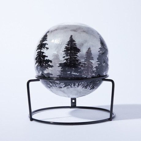 Automatic Fire Extinguisher Ball + Stand // Forest // 3lbs