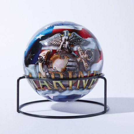 Automatic Fire Extinguisher Ball + Stand // Marines // 4lbs