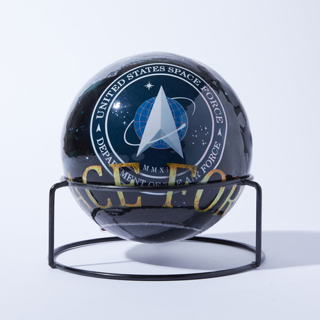 Automatic Fire Extinguisher Ball + Stand // Space Force // 4lbs