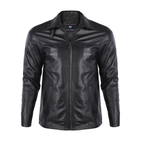 Kurt Leather Jacket // Black (S)