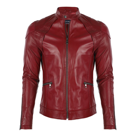 Capri Leather Jacket // Bordeaux (S)