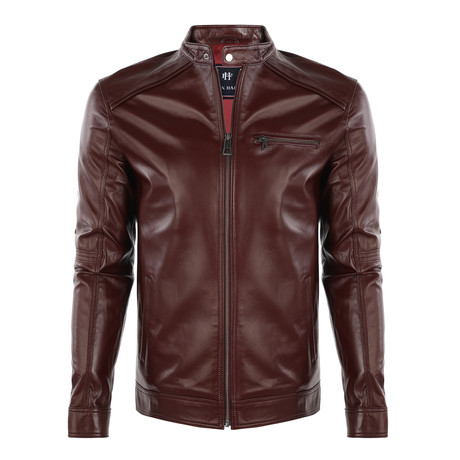 Travis Leather Jacket // Dark Purple (S)