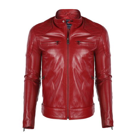 Paulo Leather Jacket // Red (S)