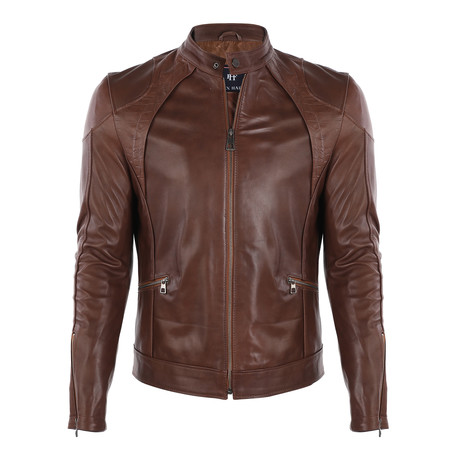 Monte Carlo Leather Jacket // Chestnut (S)