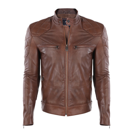 Milan Leather Jacket // Chestnut (S)