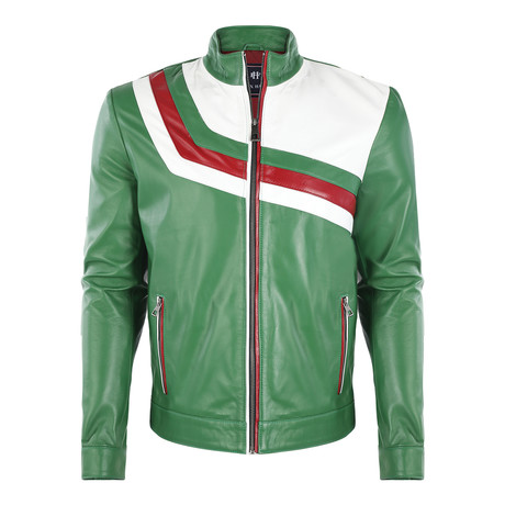 Barney Leather Jacket // Duck Green (S)