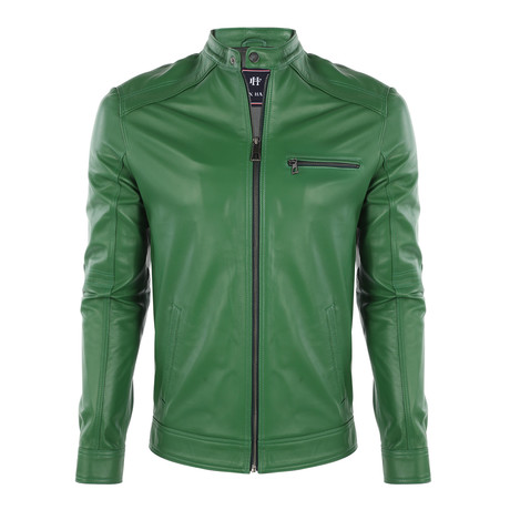 Positano Leather Jacket // Duck Green (S)