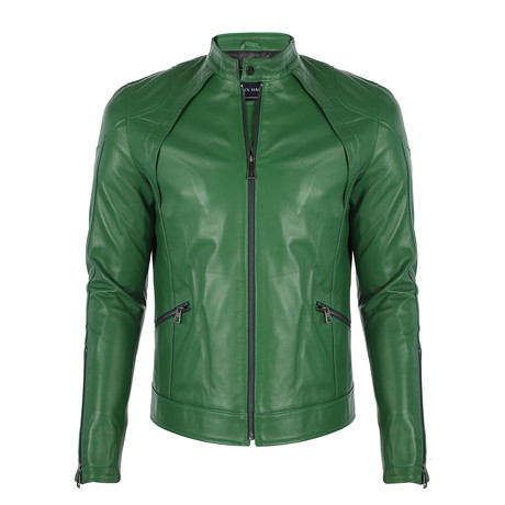 Berlin Leather Jacket // Duck Green (S)