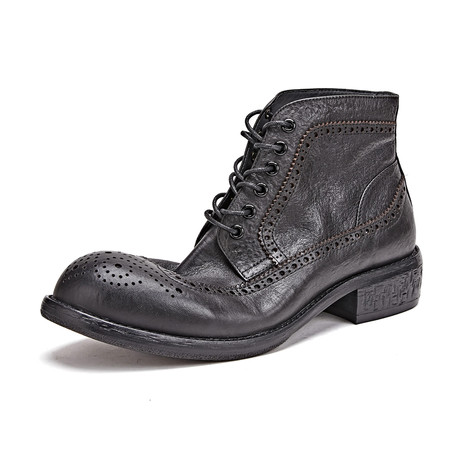 Salvatore Calf Leather Boots // Black (Size 39)