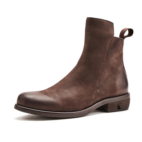 Gage Calf Leather Boots // Coffee (Size 39)