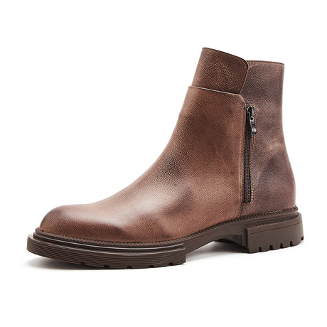 Baron Calf Leather Boots // Coffee (Size 39)