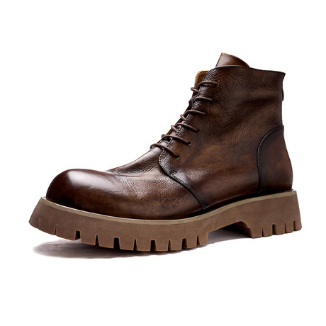 Zaire Calf Leather Boots // Brown (Size 38)