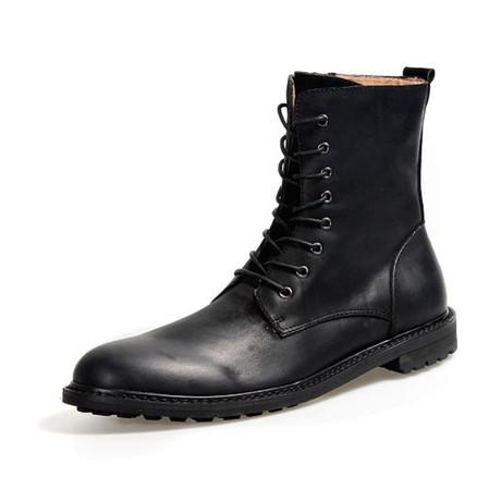 Judah Calf Leather Boots // Black (Size 38)