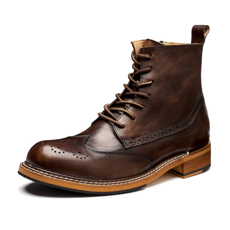 Spencer Calf Leather Boots // Brown (Size 39)