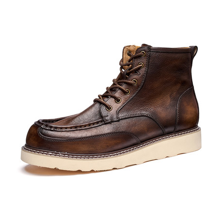 Nigel Calf Leather Boots // Brown (Size 39)