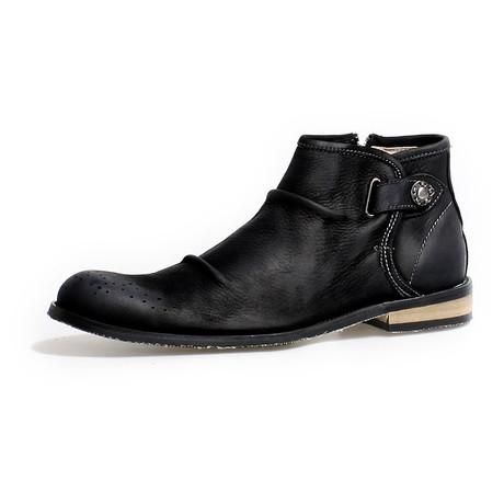 Jefferson Calf Leather Boots // Black (Size 38)