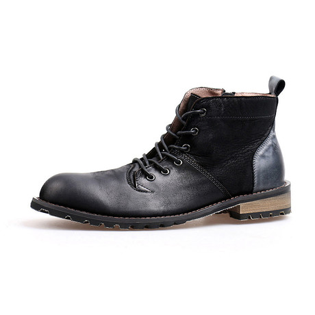 Asher Calf Leather Boots // Black (Size 38)