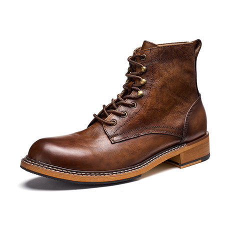 Rohan Calf Leather Boots // Dark Brown (Size 39)