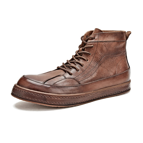 Dario Calf Leather Boots // Brown (Size 39)