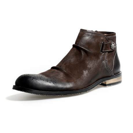 Jefferson Calf Leather Boots // Brown (Size 38)