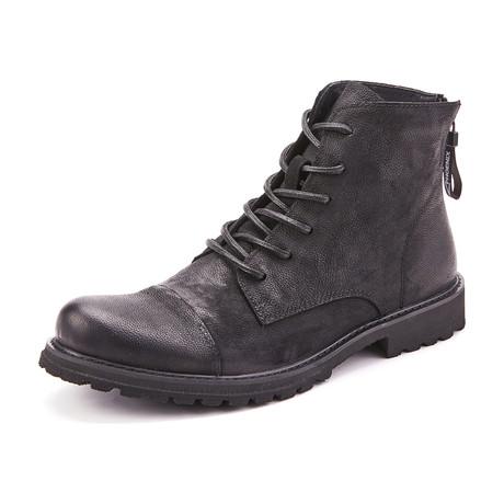 Jasper Calf Leather Boots // Black (Size 39)
