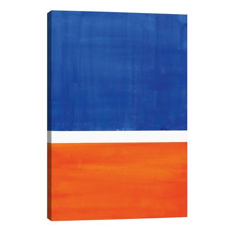 "Rothko Remake Orange Blue // EnShape (26""W x 40""H x 1.5""D)"