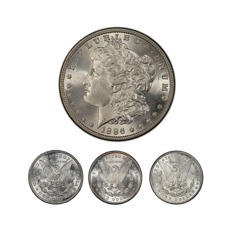 Remembering the Morgan Dollar: Four Different Mint Marks // Mint State Condition// American Classics Series // Wood Presentation Box