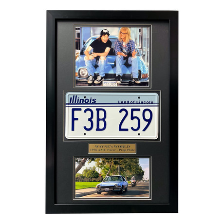 Wayne's World // Garth's Mirthmobile // Replica License Plate Display