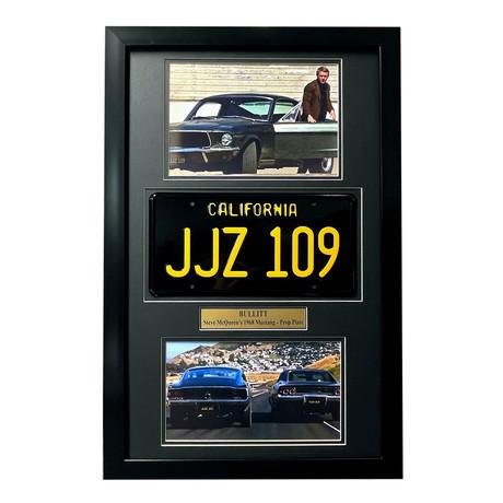 """""""Bullitt"""" // McQueen's Mustang License Plate // Framed Collage"""