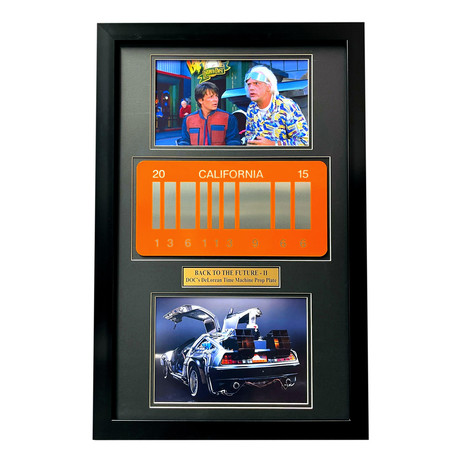 """""""Back to the Future 2"""" // DeLorean License Plate // Framed Collage"""