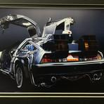 Back To The Future 2 // Christopher Lloyd // Delorean // Signed Replica License Plate Display